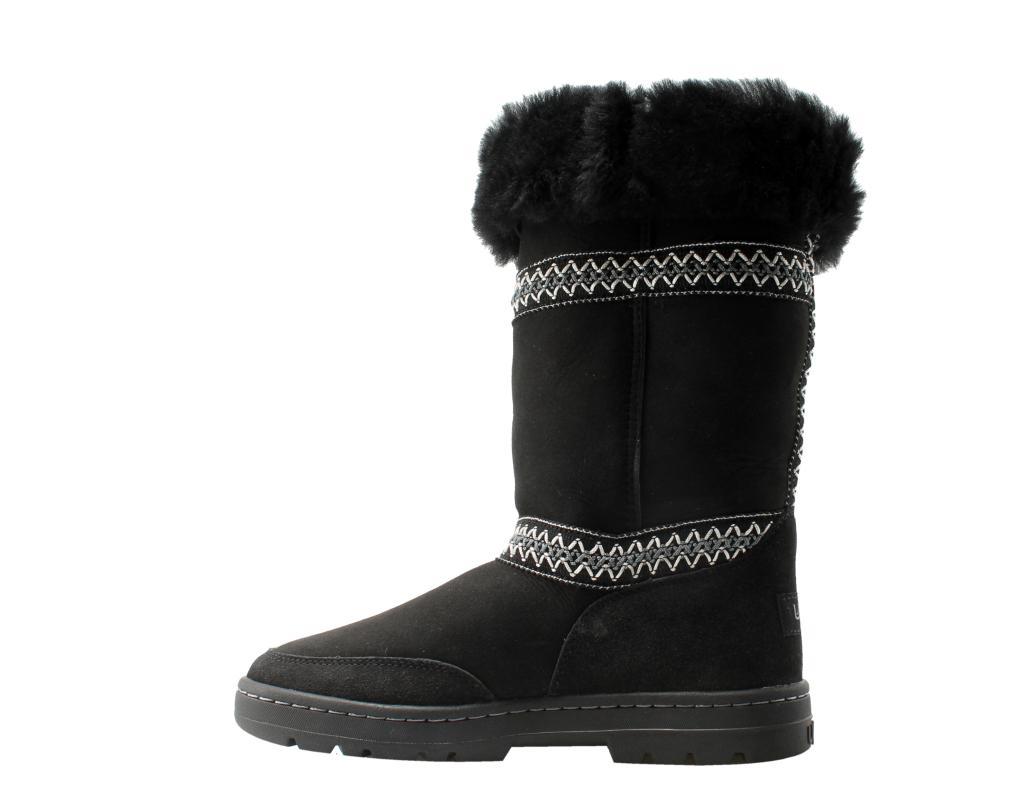 6bef1e9b1c9 UGG Australia Sundance Revival Black Women's Boots 5605O-BLK