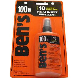 AMK 00067080 AMK BEN'S 100 INSECT REPELLENT 100% DEET 3.4OZ PUMP (CARDED)