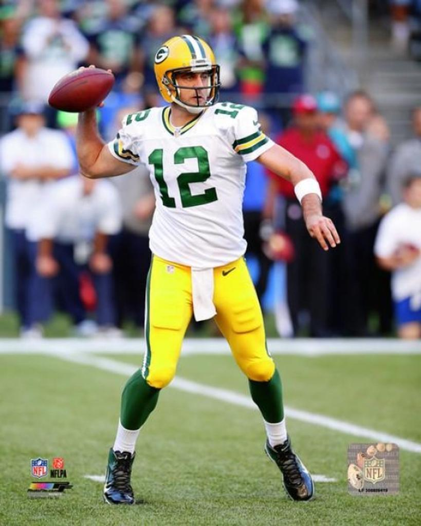 Aaron Rodgers 2014 Action Photo Print