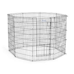 Midwest 548sdr black midwest life stages pet exercise pen with split door black 24 x 48