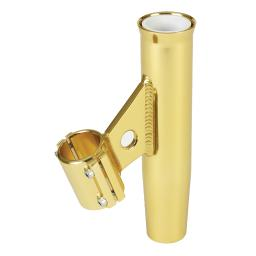LEE'S CLAMP-ON ROD HOLDER GOLD ALUMINUM VERTICAL PIPE SIZE #3