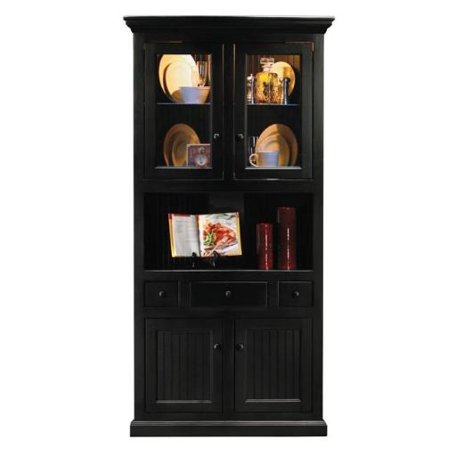 Eagle Furniture 72204PLCM Corner Dining Hutch & Buffet, Chocolate Mousse