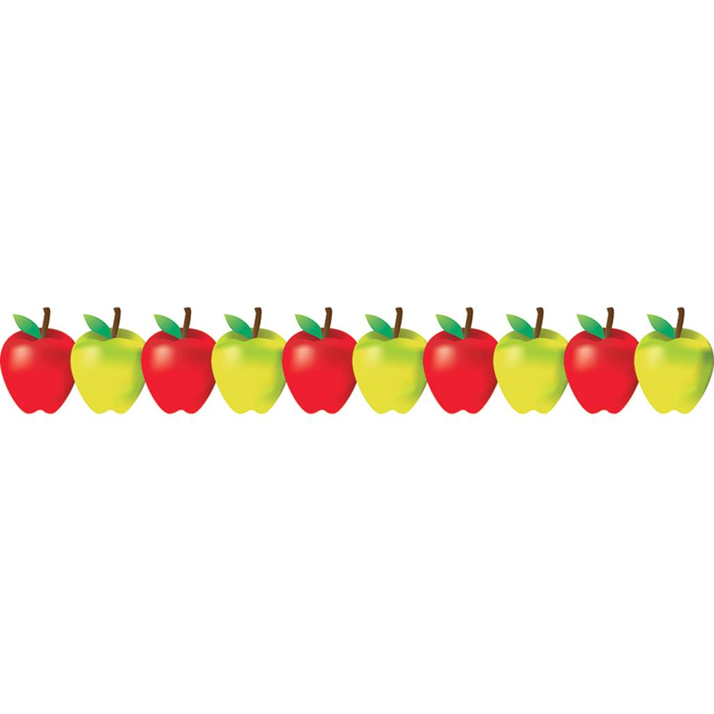 Hygloss products inc 5 pk red and green apples border 33650bn