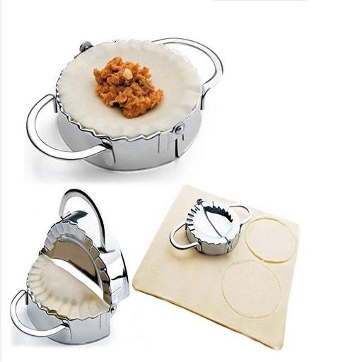 New Stainless Steel Ravioli mould Dumpling Maker Wrapper Pierogie Pie Crimper Pastry Dough Press Cutter 3.7 inch