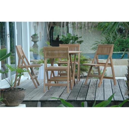 Anderson Teak Set-24 31 in. Windsor Round Picnic Folding Table
