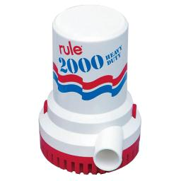 Rule 2000 Gph Non Automatic Bilge Pump W/ 6' Leads Ul