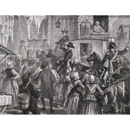 Posterazzi DPI1858162 The Royal Family Is Taken To The Temple Prison, August 1792 Engraved by Blanpain After De La Charlerie From Histoire De La Revol