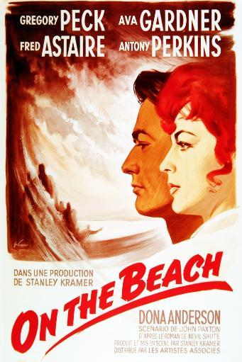 On The Beach From Left: Gregory Peck Ava Gardner On French Poster Art 1959 Onthebea-02Fr1(Onthebea-02Fr1) Movie Poster Masterprint