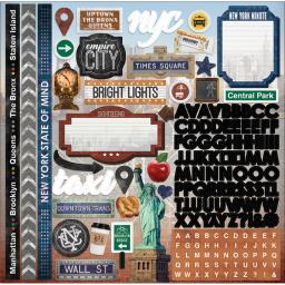 """Paper House Cardstock Stickers 12""""X12""""-New York City STCX1006"""