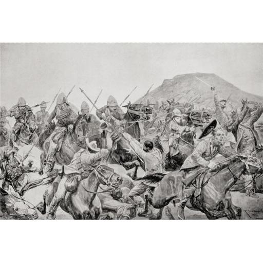Posterazzi DPI1873040LARGE Charge of The 5th Lancers At The Battle of Elandslaagte, 21 October 1899, During The Second Boer War From The Book South Af