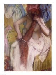 Woman Combing her Hair Poster Print by Edgar Degas BALXIR3691LARGE