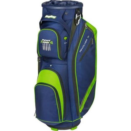 Bag Boy BB37007 Golf Revolver FX Cart Bag - Navy, Lime & Silver