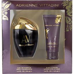 AV MIDNIGHT BLOSSOM by Adrienne Vittadini EAU DE PARFUM SPRAY 3 OZ & BODY LOTION 3.4 OZ For WOMEN