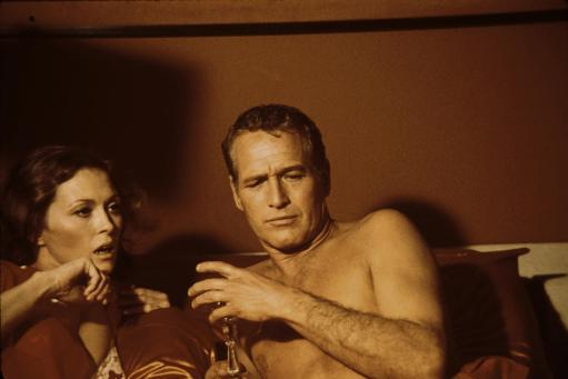 Film still featuring Faye Dunaway and Paul Newman in The Towering Inferno Photo Print