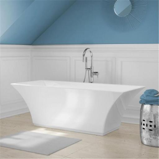 A And E Bath And Shower Abzu All-In-One Free-Standing Tub Combo - White