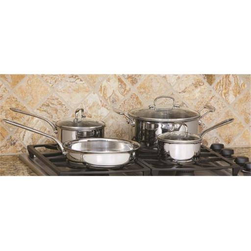 7 PC Tri-Ply Stainless Steel Cookware Set