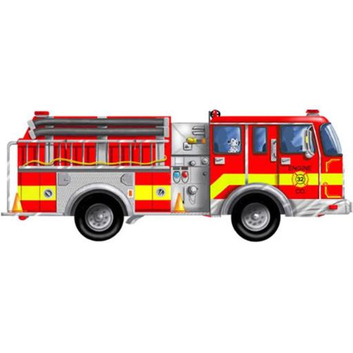 LIGHTS CAMERA INTERACTION LCI436 FLOOR PUZZLE GIANT FIRE TRUCK 6B43D6B0F9333643