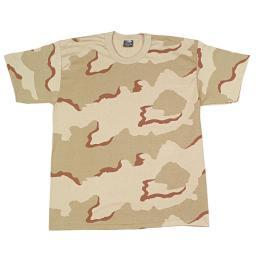 Boys Tri Color Desert Camo T-Shirt