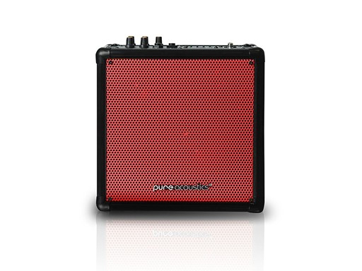 Wireless Portable Bluetooth PA Speaker System with Built-in Rechargeable Battery-Color-Red