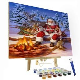 Christmas Campfire Paint By Number Painting Set
