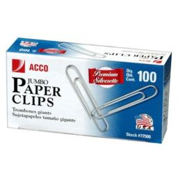 ACCO Brands A7072500G Jumbo Paper Clips100