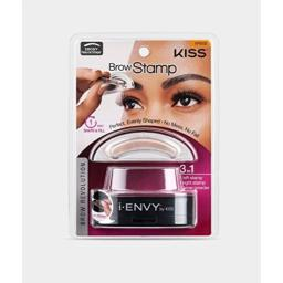 i-Envy by Kiss Brow Stamp for Perfect Eyebrow (KPBS02 - Ebony/Natural Shape)