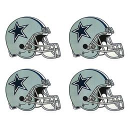 4 Dallas Cowboy Die Cut Stickers NFL Football Helmet Logo Sticker Team Set
