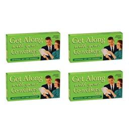 BlueQ Get Along With Your Co-workers Fruit Flavored Gum (4 packs per order)