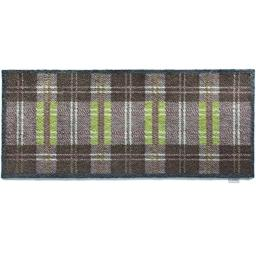 "Bosmere Hug Rug Eco-Friendly Absorbent Dirt Trapping Indoor Washable Runner, 25.5"" x 59"" Green/Grey Plaid"