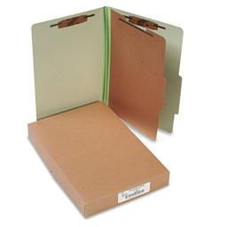 ACC16044 - ACCOreg; Pressboard 4-Part Classification Folders, Legal, Leaf Green Box of 10