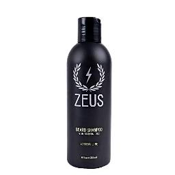 ZEUS Beard Shampoo and Wash for Men - 8oz - Beard Wash with Natural Ingredients Scent: Verbena Lime