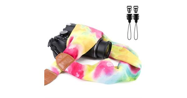 Elvam Universal Men and Women Scarf Camera Strap Belt Compatible for All DSLR Camera SLR Camera Instant Camera and Digital Camera - Watercolor Pattern Elvam Universal Men and Women Scarf Camera Strap Belt Compatible for All DSLR Camera SLR Camera Instant Camera and Digital Camera - Watercolor Pattern