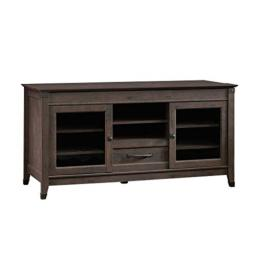 "Sauder 419083 Carson Forge Entertainment Credenza, For TV's up to 60"", Coffee Oak finish"