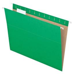 Pendaflex Recycled Hanging Folders, Letter Size, Bright Green, 1/5 Cut, 25/BX (81610)
