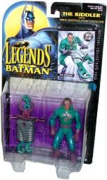 Kenner Year 1995 Legends of Batman 5 Inch Tall Action Figure - The RIDDLER with Firing Question Mark Launcher and 2 Question Mark Projectiles