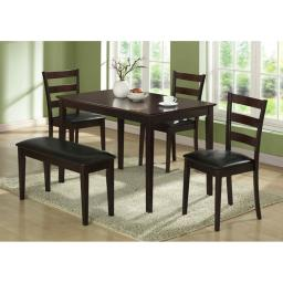 Offex OFX-284097-MO Cappuccino 5 Piece Dining Set with a Bench and 3 Side Chairs
