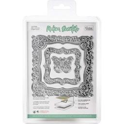 Artdeco Creations CO726467 Couture Creations Cut, Foil & Emboss Nesting Dies-Butterfly Frames