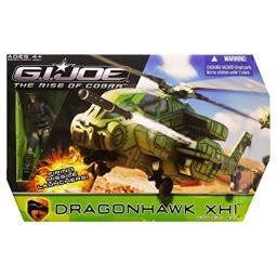 G.I. Joe Rise of Cobra Dragonhawk XH1 Helicopter with Wild Bill Action Figure Vehicle Set