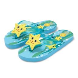 Melissa and Doug Sunny Patch Cinco Starfish Flip-Flops Size: 12 - 13