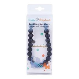 Belle Éléphant Smokey black Round Beaded Teething/Nursing Necklace 30 Inch