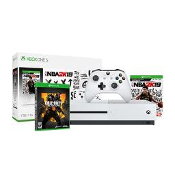 Microsoft Xbox One S 1TB NBA 2K19 Video Game Console with Call of Duty Black Ops 4