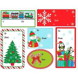 Multicolored Adhesive Paper Labels, Value Pack, 48 Ct. | Christmas Gift Tags