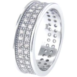 6685f5ed9e13f Doma WWC6BFF62 Jewellery SSRZ5285 Sterling Silver Ring With Cubic Zirconia Size  5 D2F401A8806 Fashion Jewelry