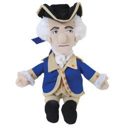 George Washington Little Thinker Plush Doll President Novelty USA Funny Gift