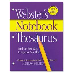 Merriam Webster FSP0573 Notebook Thesaurus- Three Hole Punched- Paperback- 80 Pages