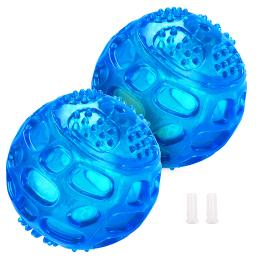 """Yescom 2.75"""" Pet Squeaker Ball Squeaky Sound Cat Dog Training Chew Play Toy Blue(Pack of 2)"""