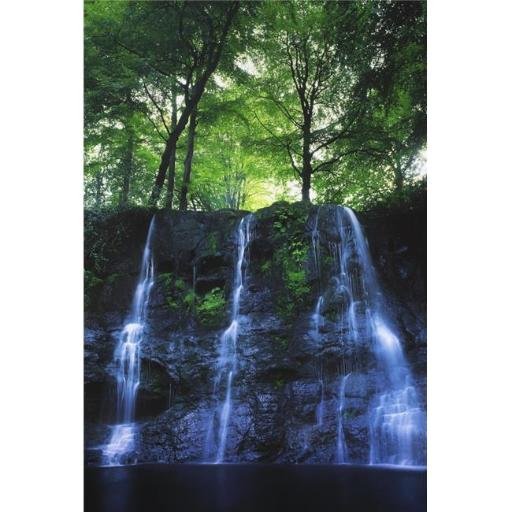 Posterazzi DPI1803586 Glenariff Waterfall Co Antrim Ireland - Waterfall with Trees Above Poster Print by The Irish Image Collection, 12 x 18
