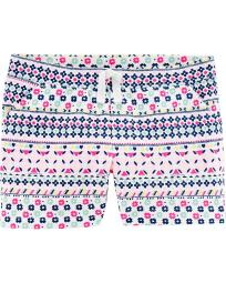 Carter's Girls' Striped Floral Pull On Terry Shorts, Multi, 6 Months