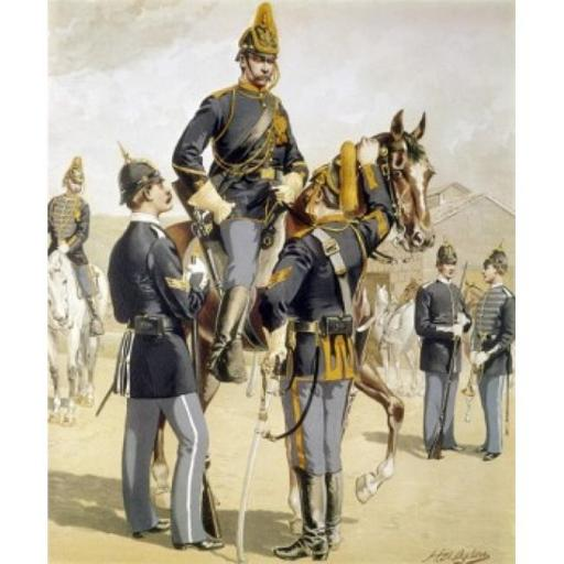 Posterazzi SAL900105023 Enlisted Men-Cavalry & Infantry by Henry Alexander Ogden 1888 1856-1936 Poster Print - 18 x 24 in.