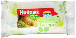 Huggies Natural Care Wipes - 16 wipes, Pack of 3